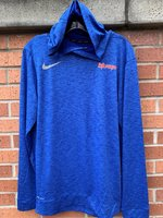 LONG SLEEVE HOODIE T-SHIRT - orange and white Wildcats on the left chest and a Nike Swoosh on the right chest