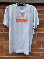 SHORT SLEEVE T-SHIRT - Louisiana College in orange arched over an orange box with Wildcats cut out