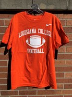 T-SHIRT S/S WHT LOGO LOUISIANA COLLEGE ARCHED / FOOTBALL IMAGE / FOOTBALL WHT SWOOSH TOP LEFT