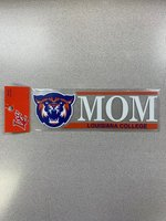 DECAL MOM IN WHT ORN BAR ABOVE RYL LOUISIANA COLLEGE IN ORN BOTTOM BAR FULL COLOR WILDCAT HEAD ON LEFT 2.5 x 8""