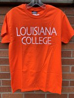 SHORT SLEEVE T-SHIRT - white Louisiana over College in large distressed letters