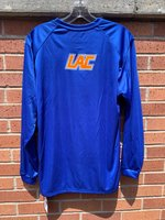LAC T-SHIRT L/S RYL LOUISIANA WHT OUTLINE / ORN ATHLETIC RYL CLUB ON FRONT & ON BACK ORN LAC W/ RYL WHT OUTLINE