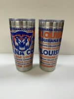 Stainless Steel Tumbler with a Louisiana College wrap - 20 oz